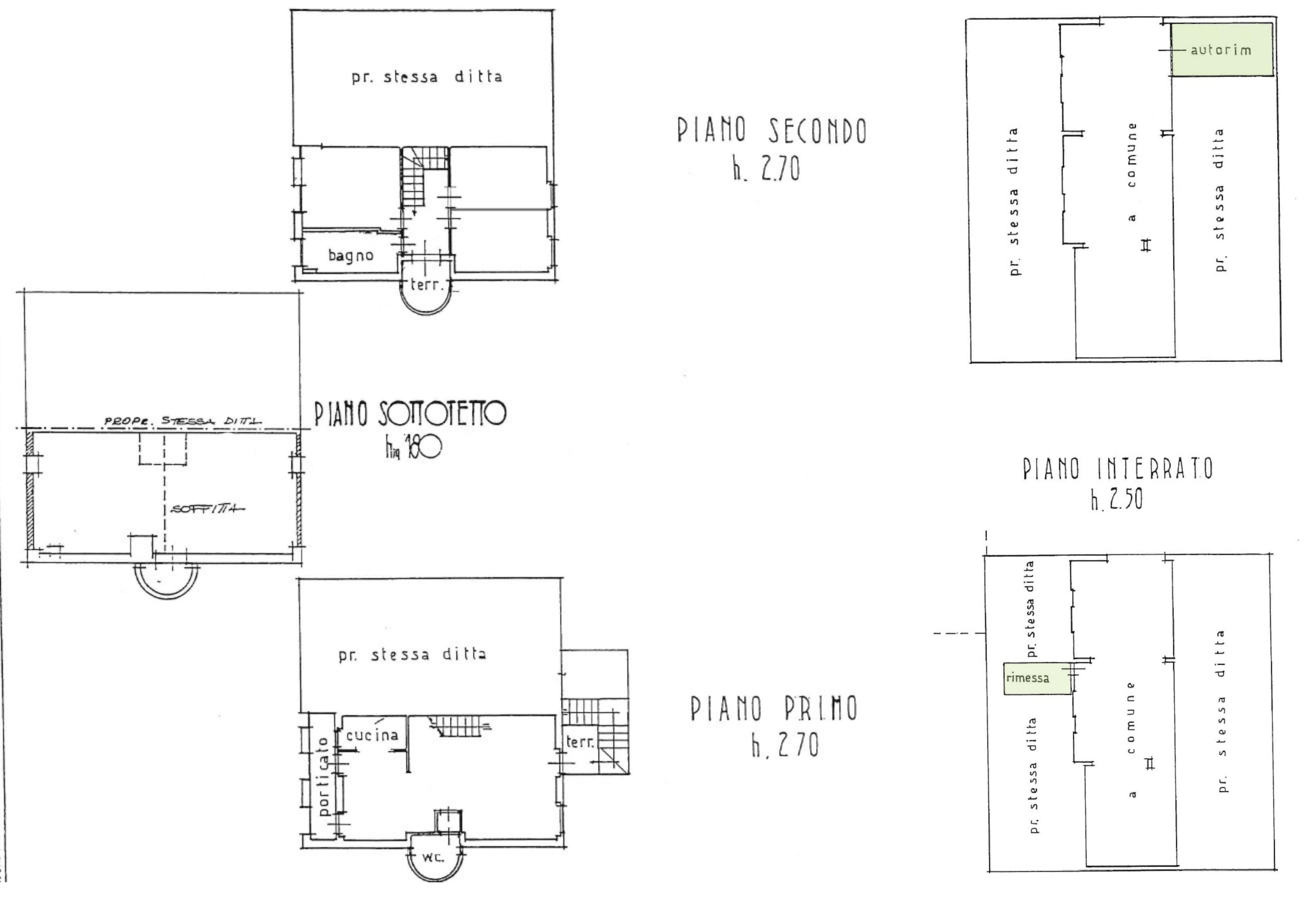 Planimetria 1/1 per rif. S2287