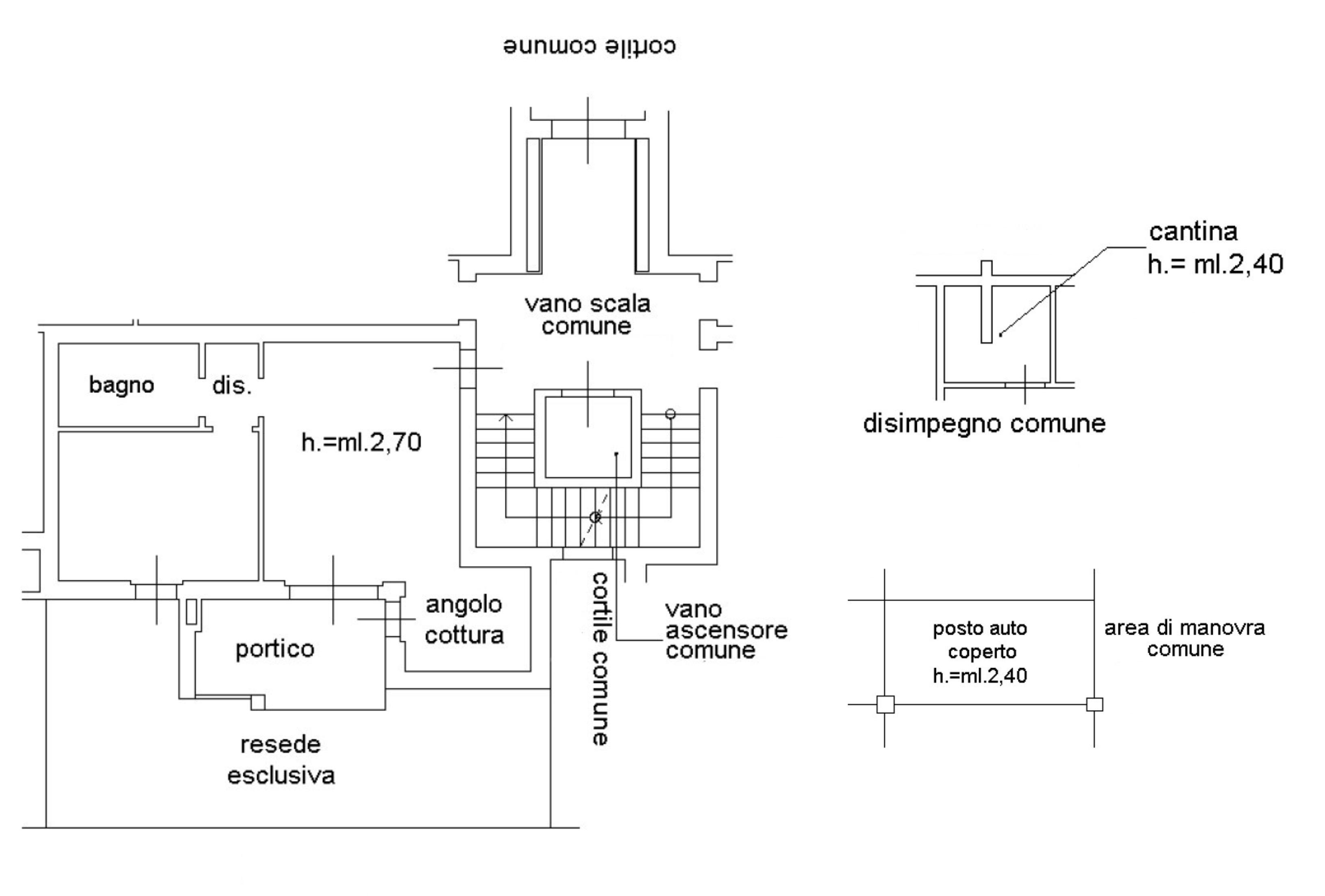 Planimetria 1/1 per rif. D2284