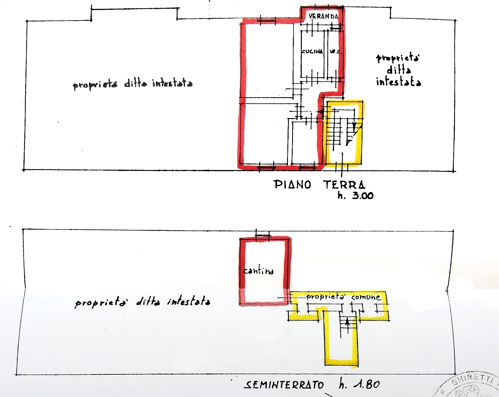 Planimetria 1/1 per rif. G2250