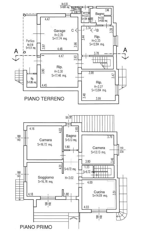 Planimetria 1/1 per rif. G2252