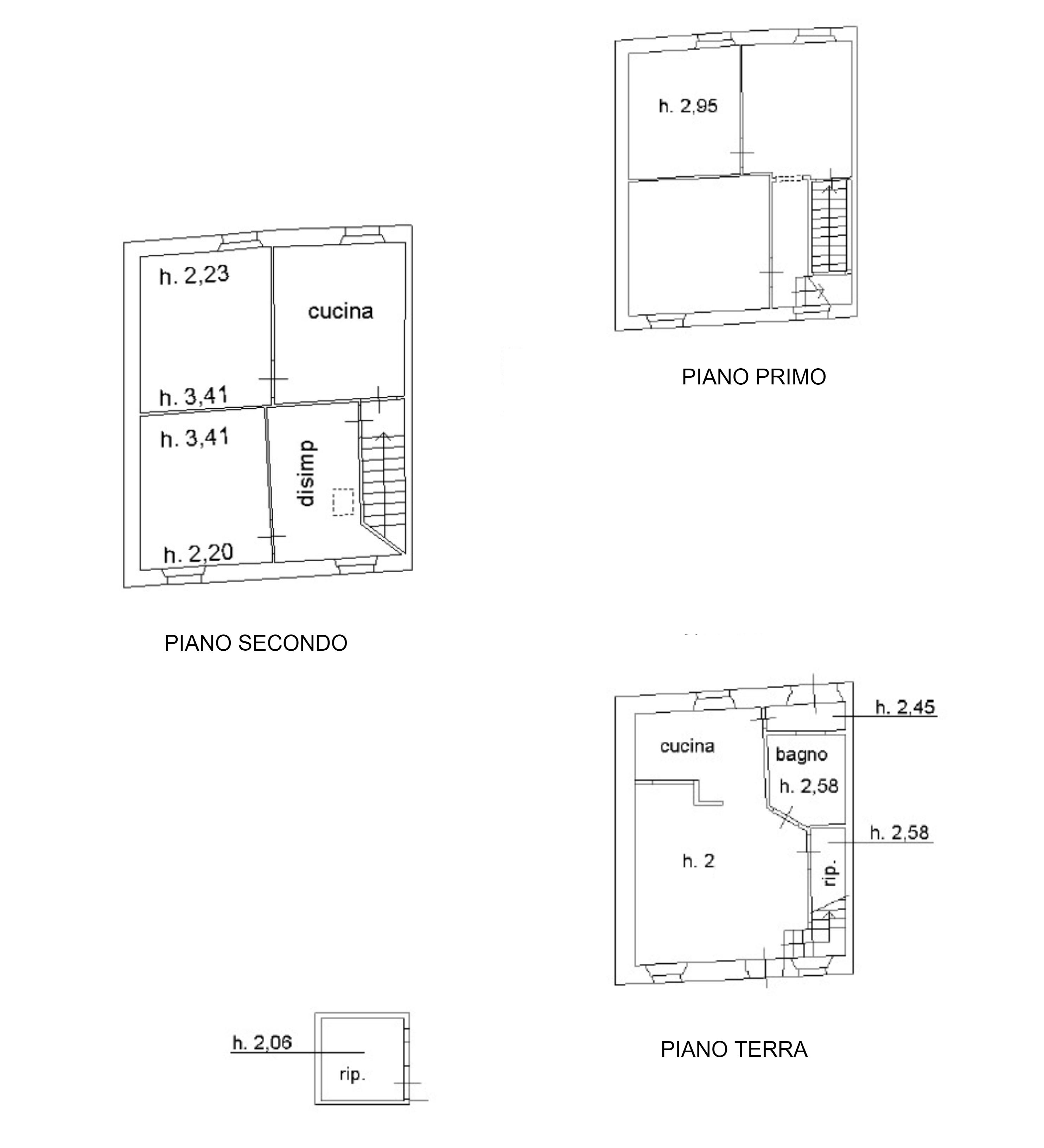 Planimetria 1/1 per rif. D2291