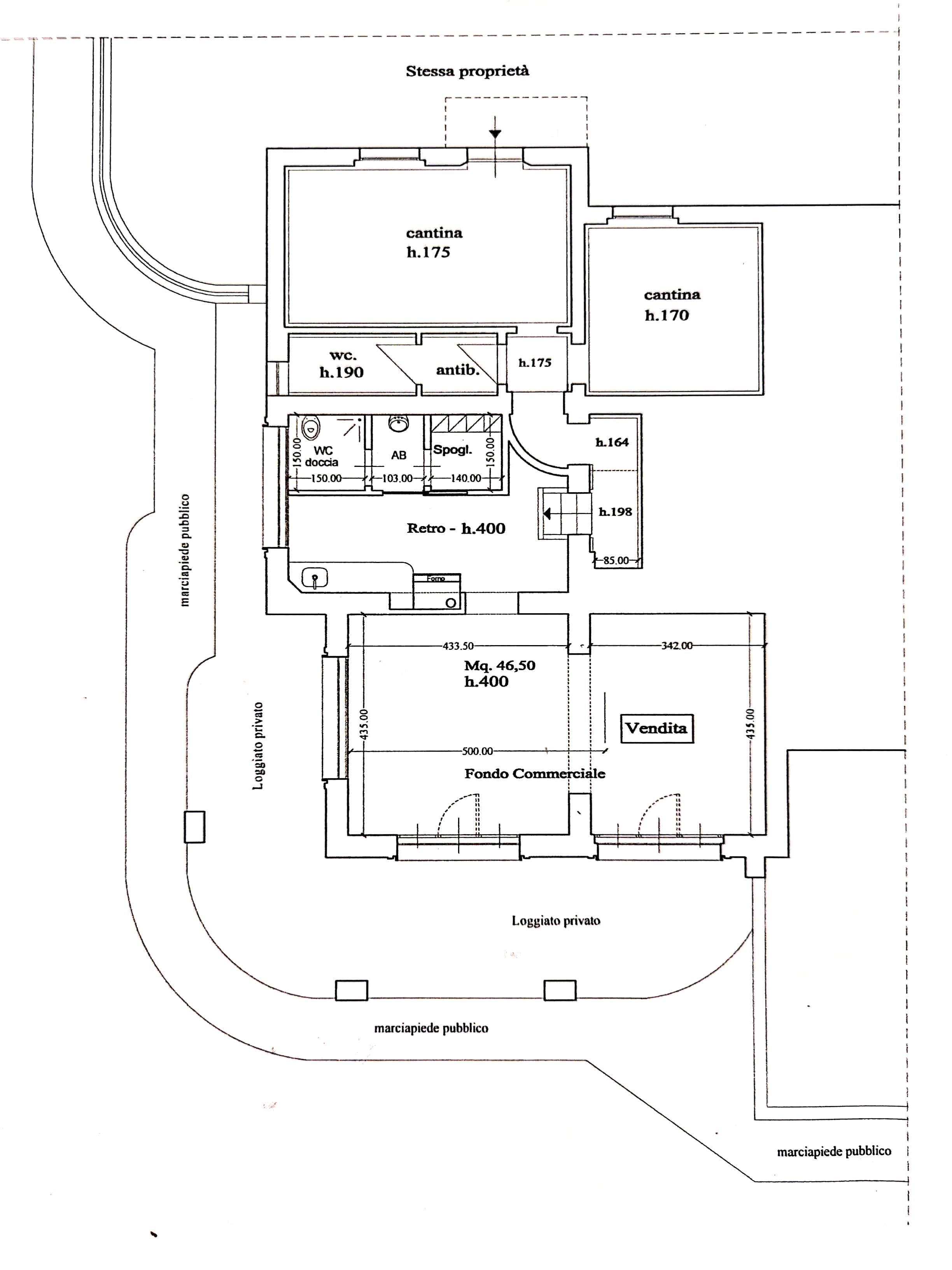 Planimetria 1/1 per rif. DE164