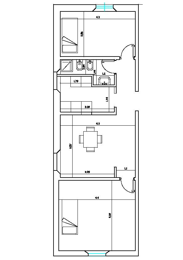 Planimetria 1/1 per rif. DE57