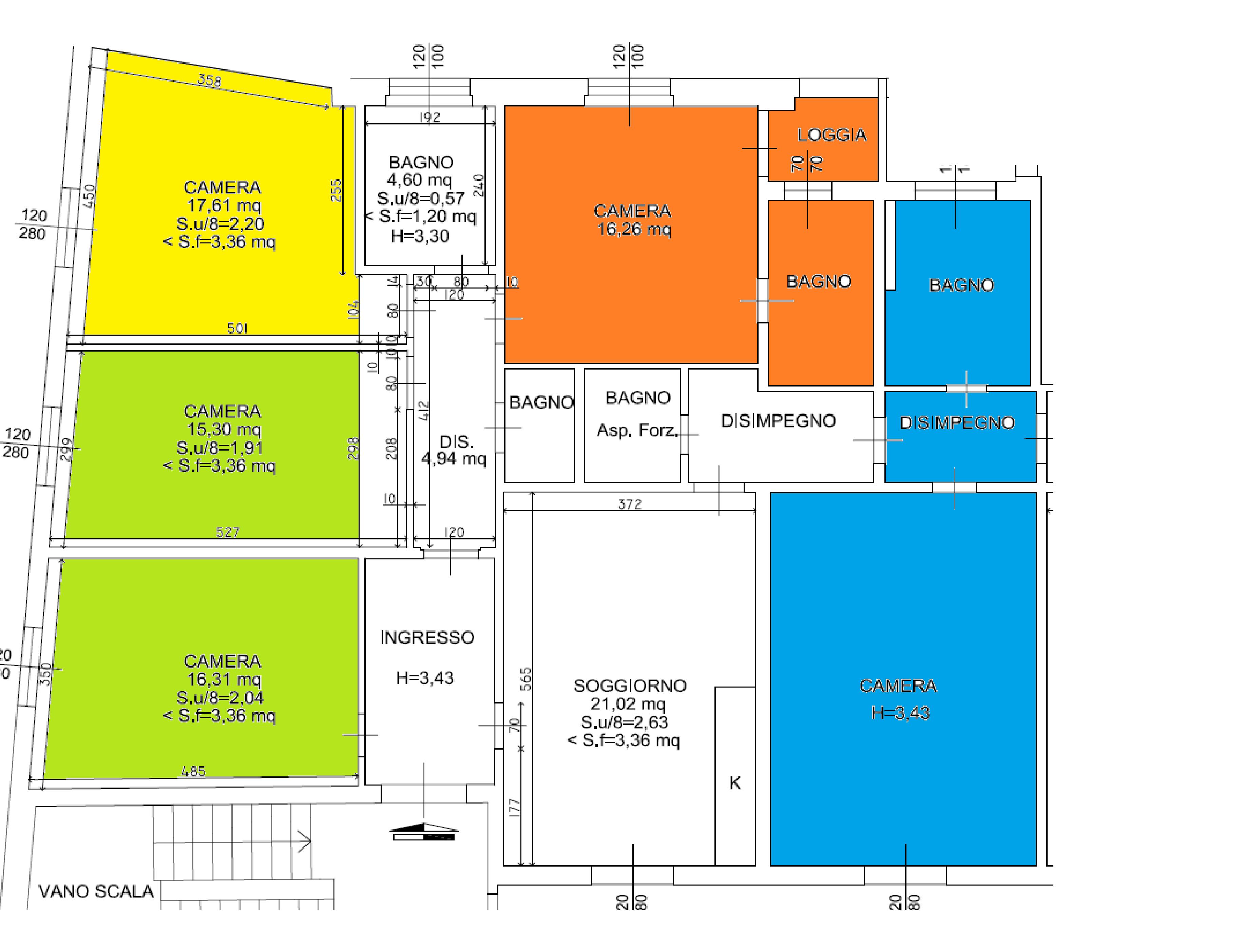 Planimetria 1/1 per rif. A1045