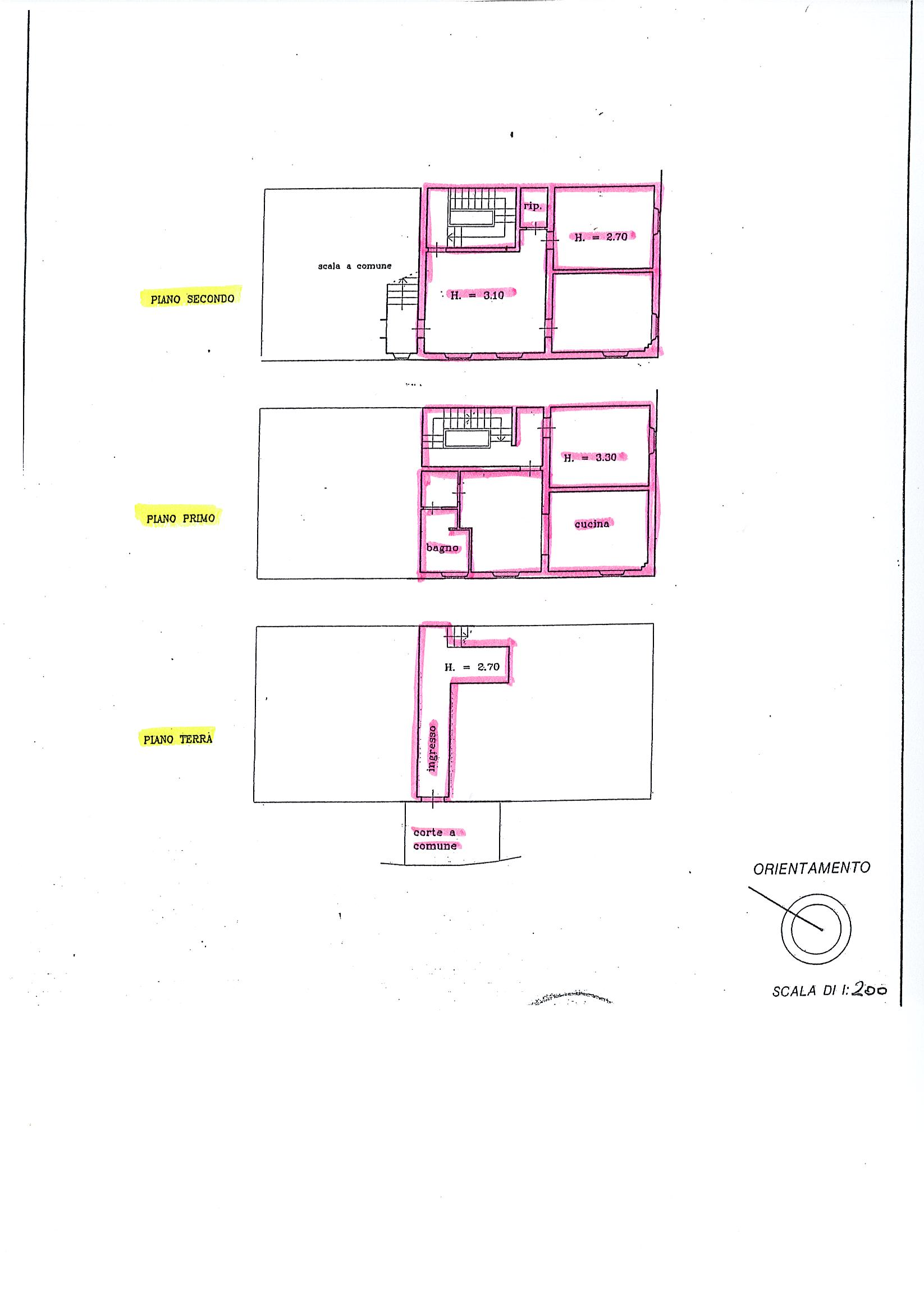 Planimetria 1/1 per rif. C290
