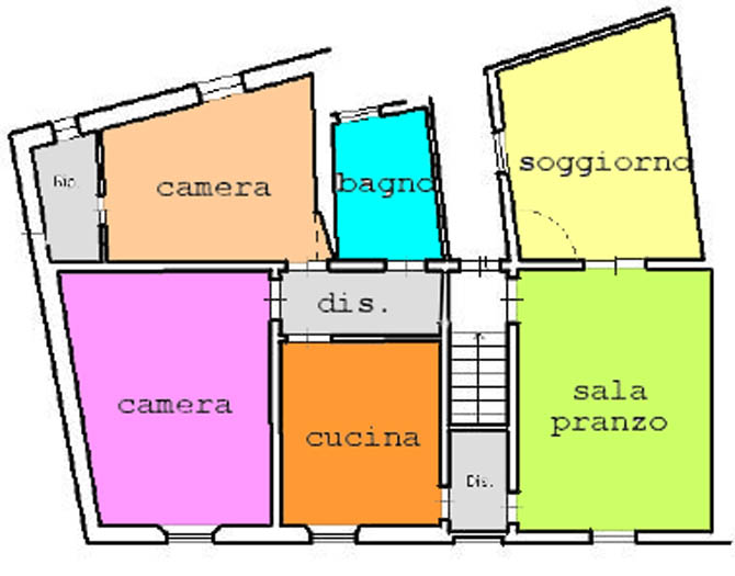 Planimetria 1/2 per rif. C294