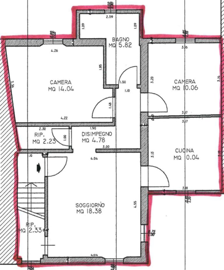 Planimetria 1/1 per rif. C313
