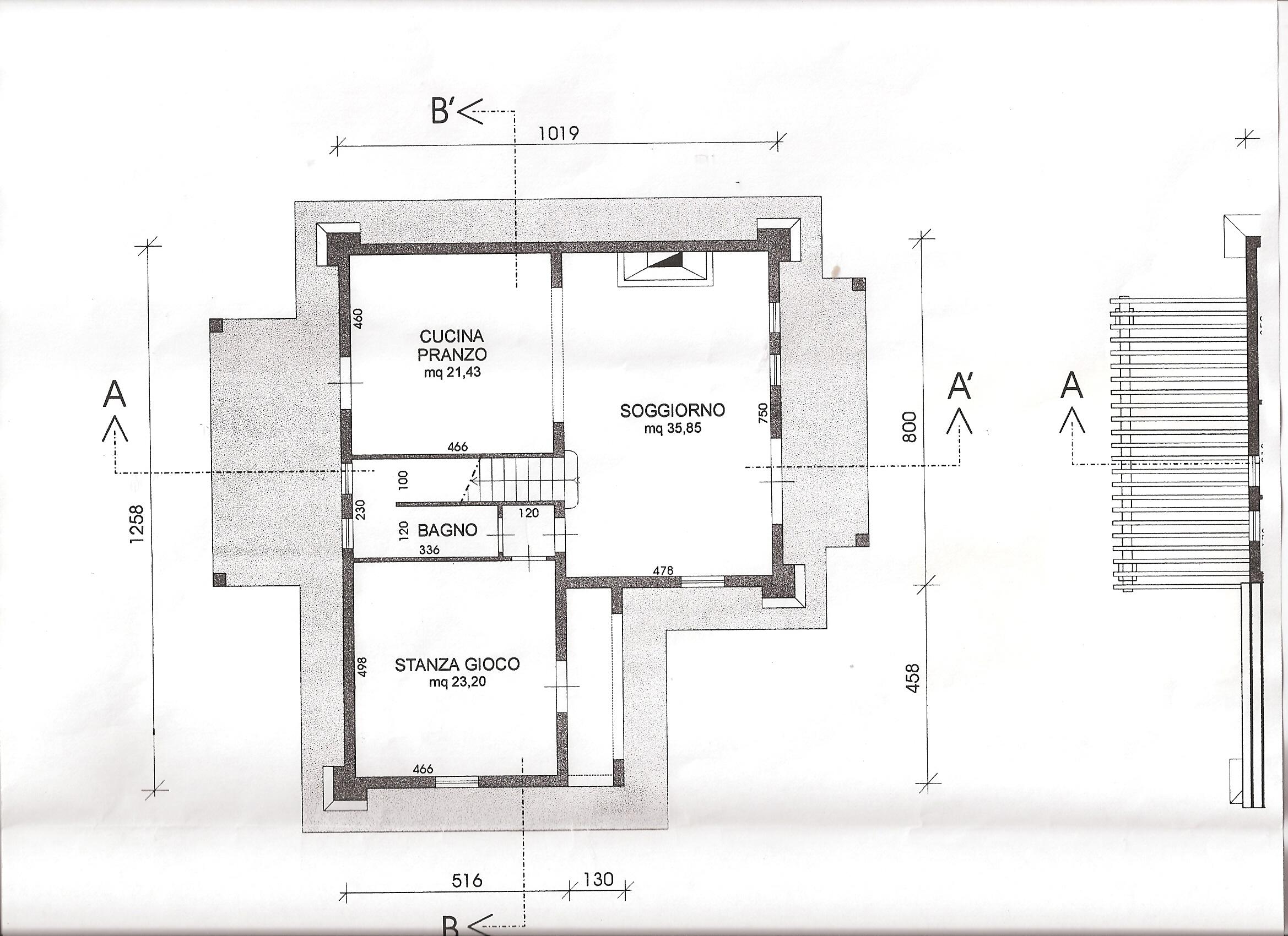Planimetria 1/2 per rif. B229