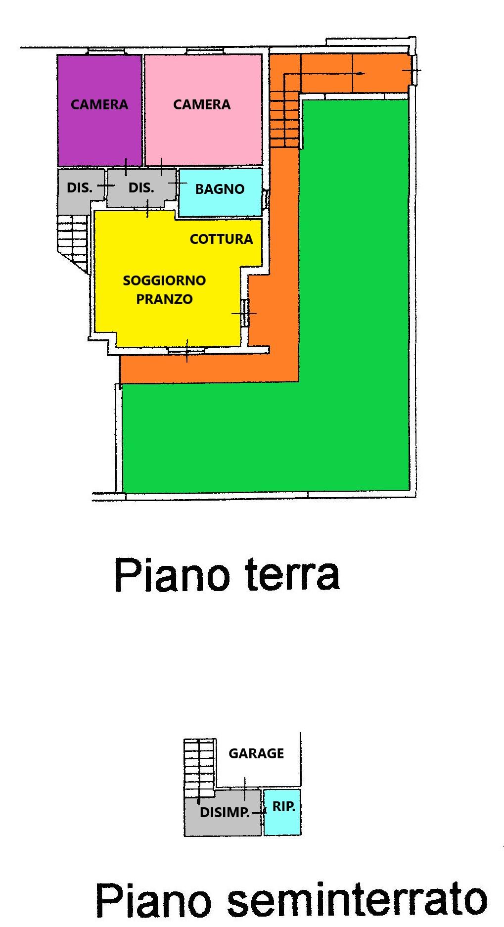 Planimetria 1/2 per rif. C329