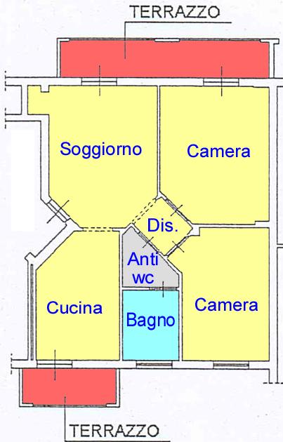 Planimetria 1/1 per rif. B542