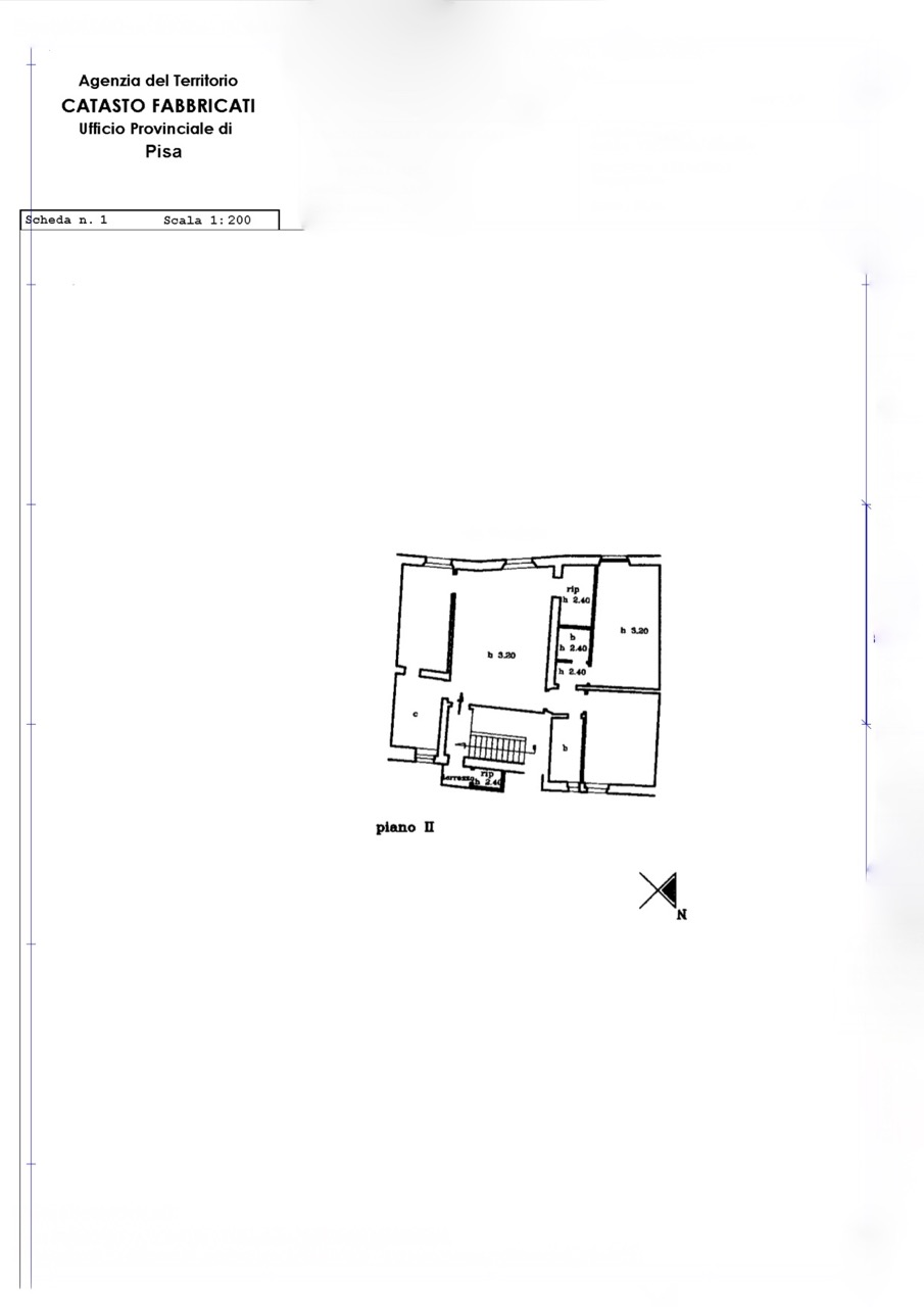 Planimetria 1/1 per rif. 241cc
