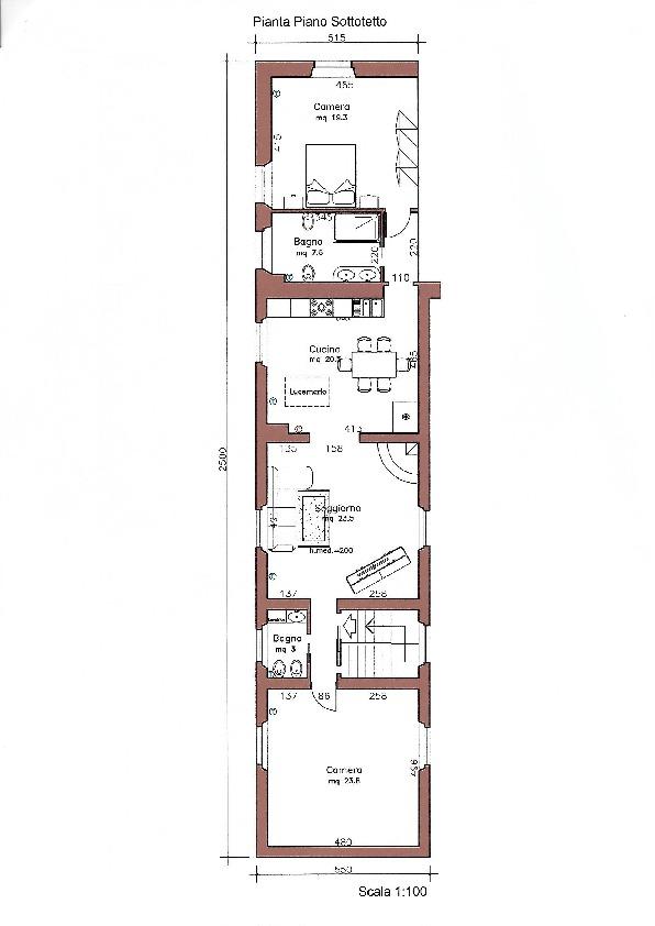 Planimetria 2/2 per rif. 1121