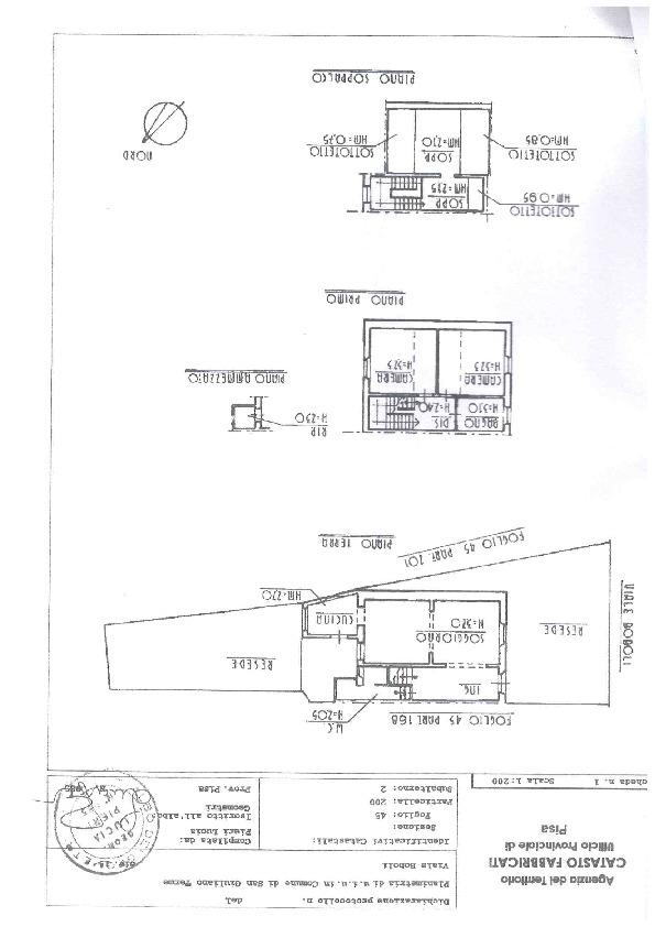 Planimetria 1/1 per rif. 1202