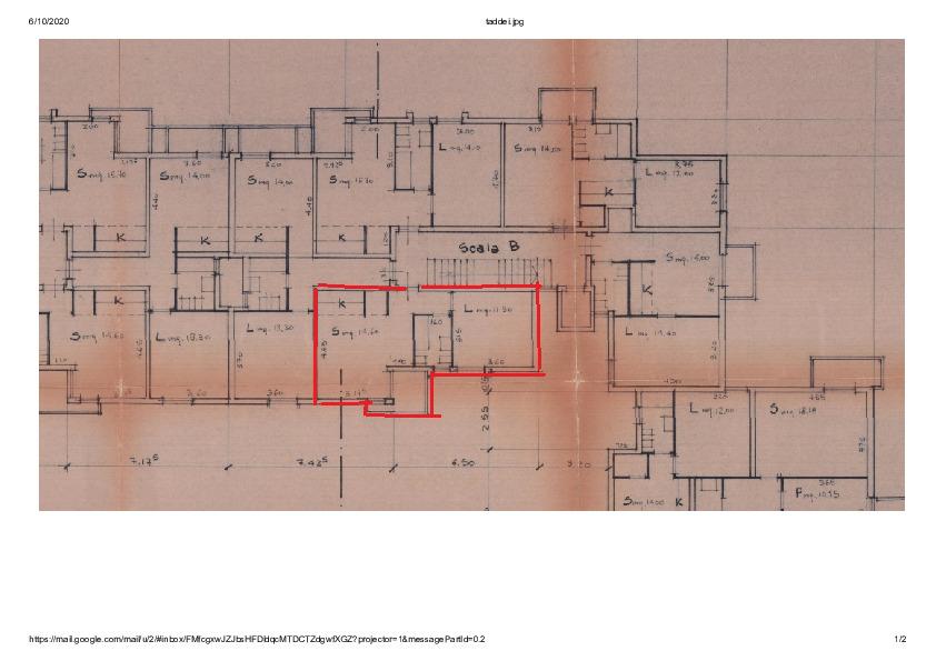 Planimetria 1/1 per rif. AE1260V