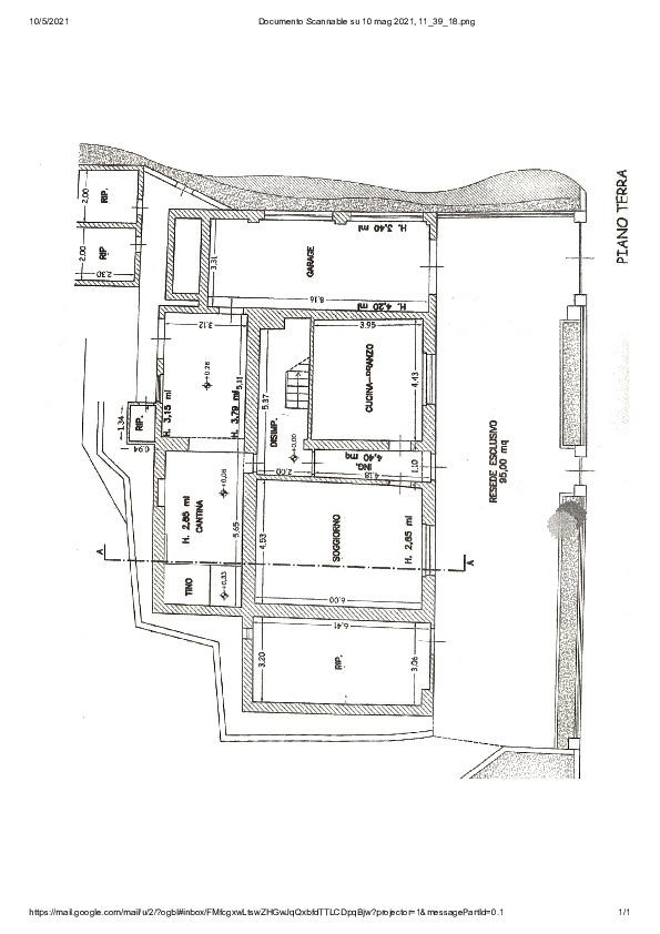 Planimetria 1/2 per rif. AE1311V