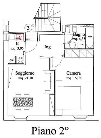 Planimetria /1 per rif. A207