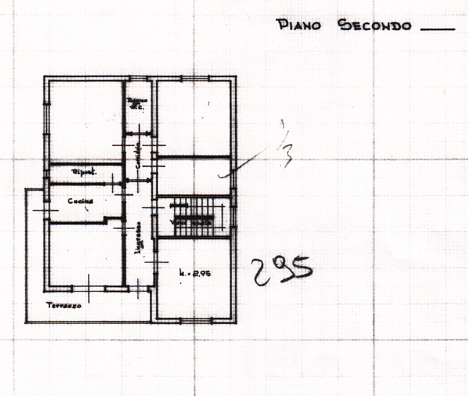 Planimetria 1/3 per rif. S187
