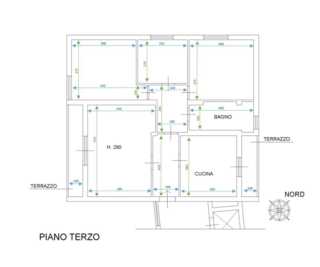Appartamento in vendita, rif. S643 (Planimetria 1/1)
