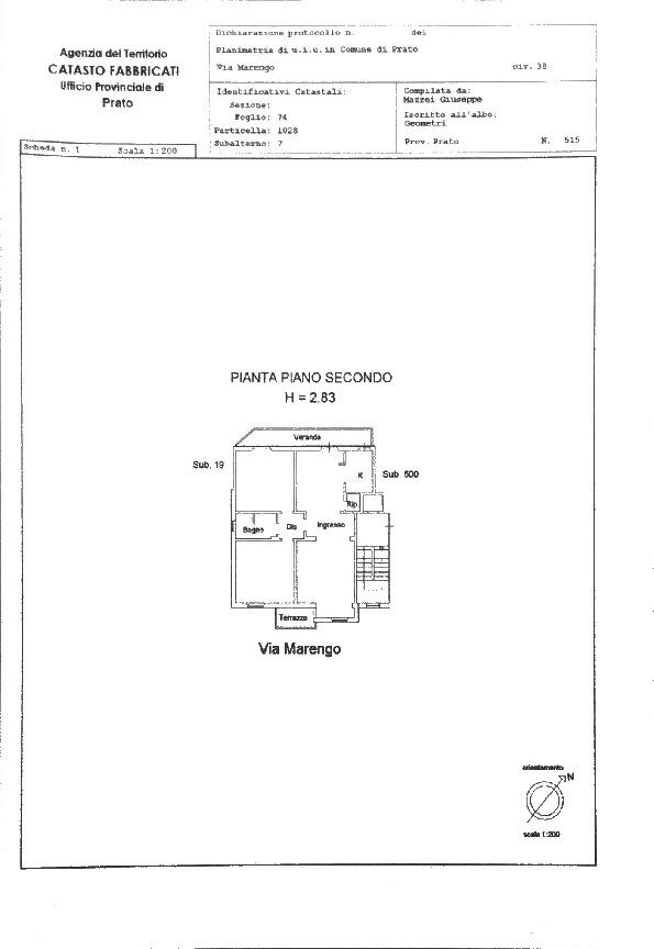 Planimetria 1/1 per rif. 3po-040