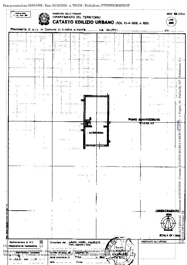 Planimetria /2 per rif. 2423