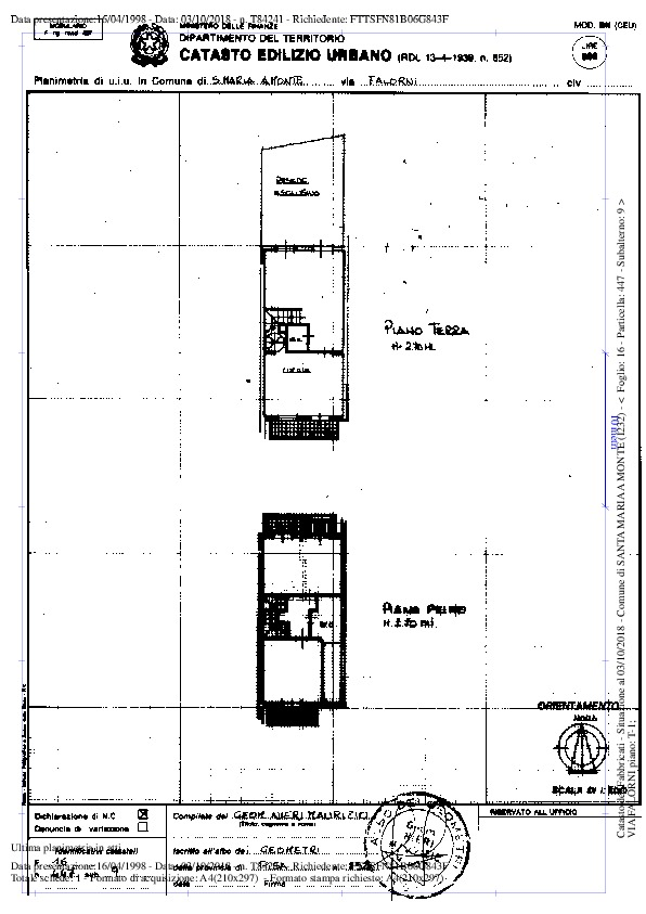 Planimetria 1/2 per rif. 2423