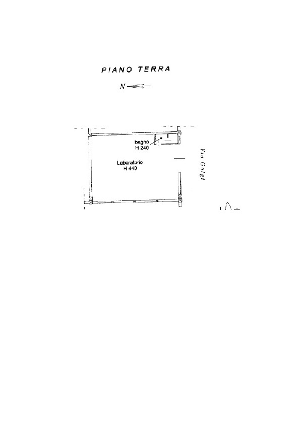 Planimetria 1/1 per rif. V1086