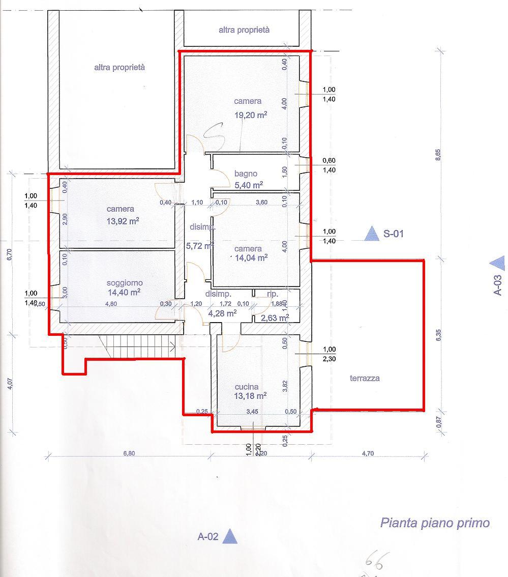Planimetria 2/2 per rif. V1140