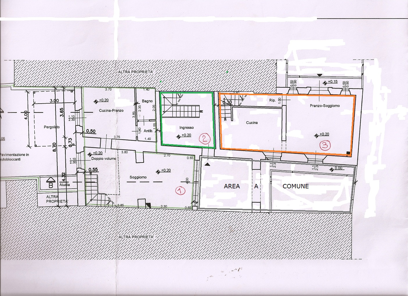 Planimetria 1/2 per rif. V1163