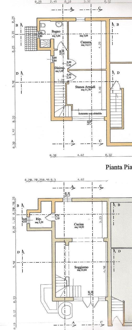 Terratetto in affitto residenziale - Marciana, Cascina