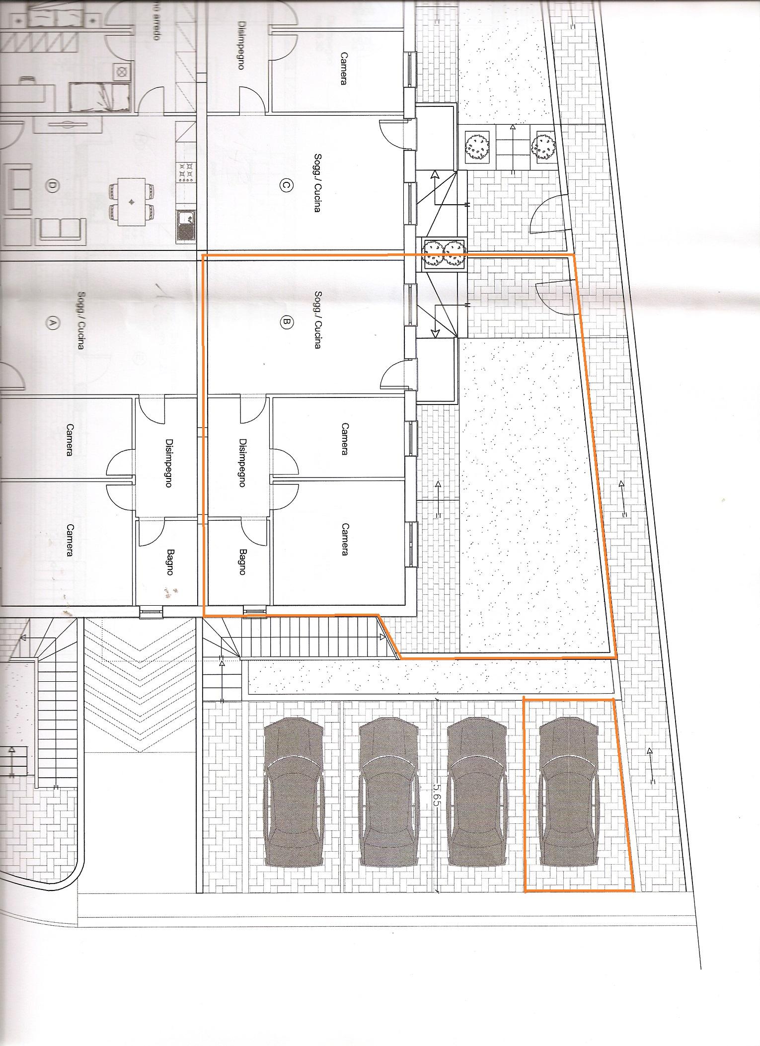 Planimetria 1/2 per rif. V1078