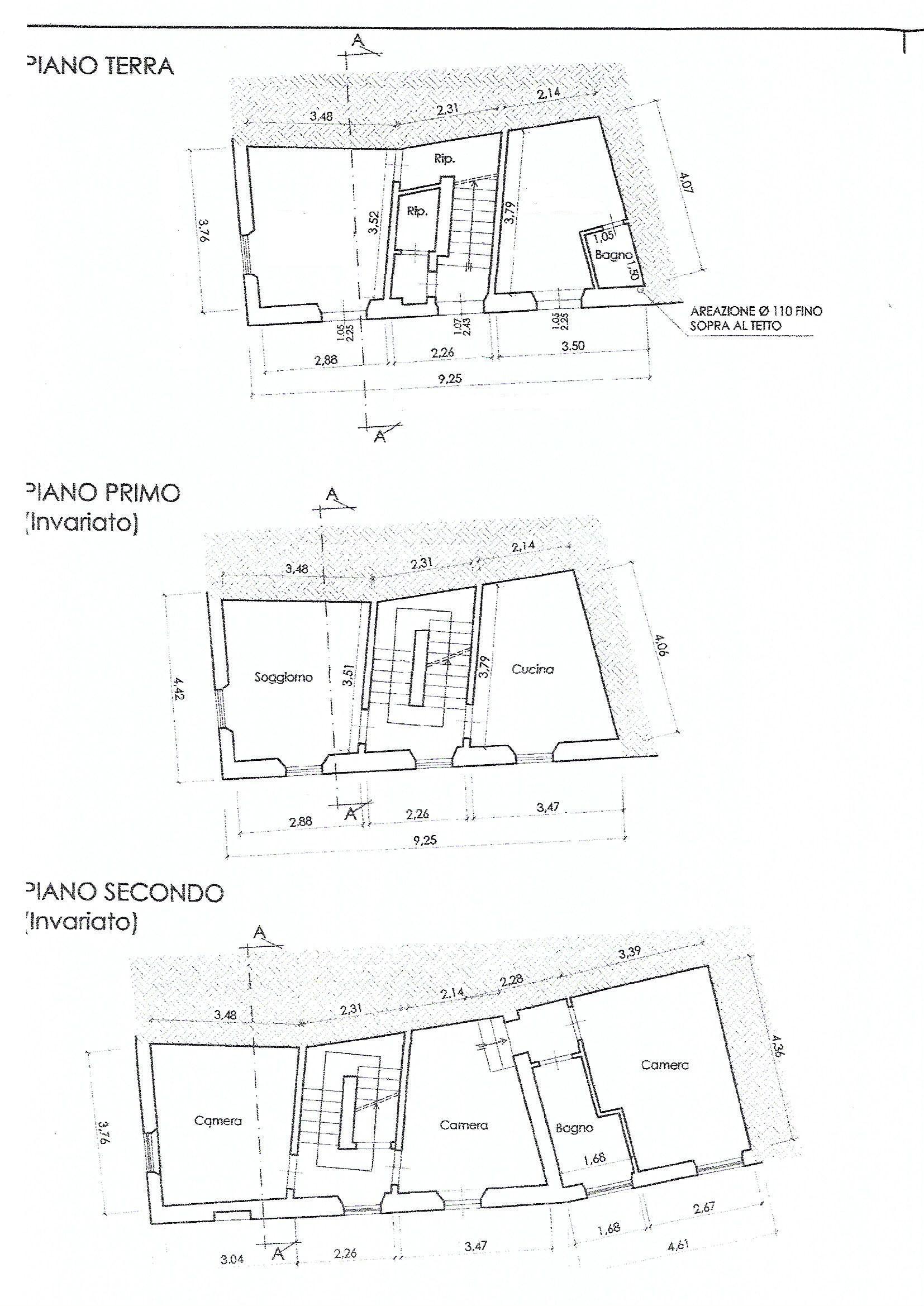 Planimetria 1/1 per rif. v1036