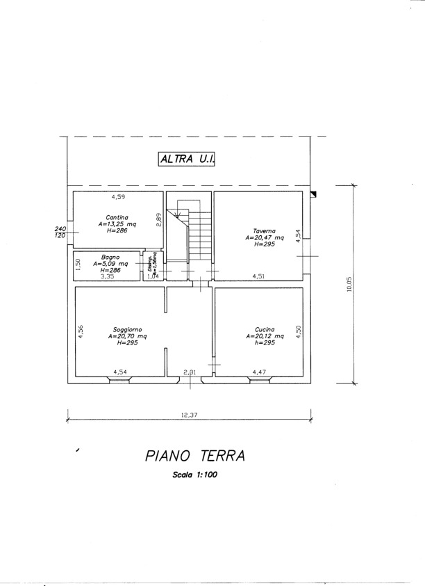 Planimetria 1/2 per rif. V1143