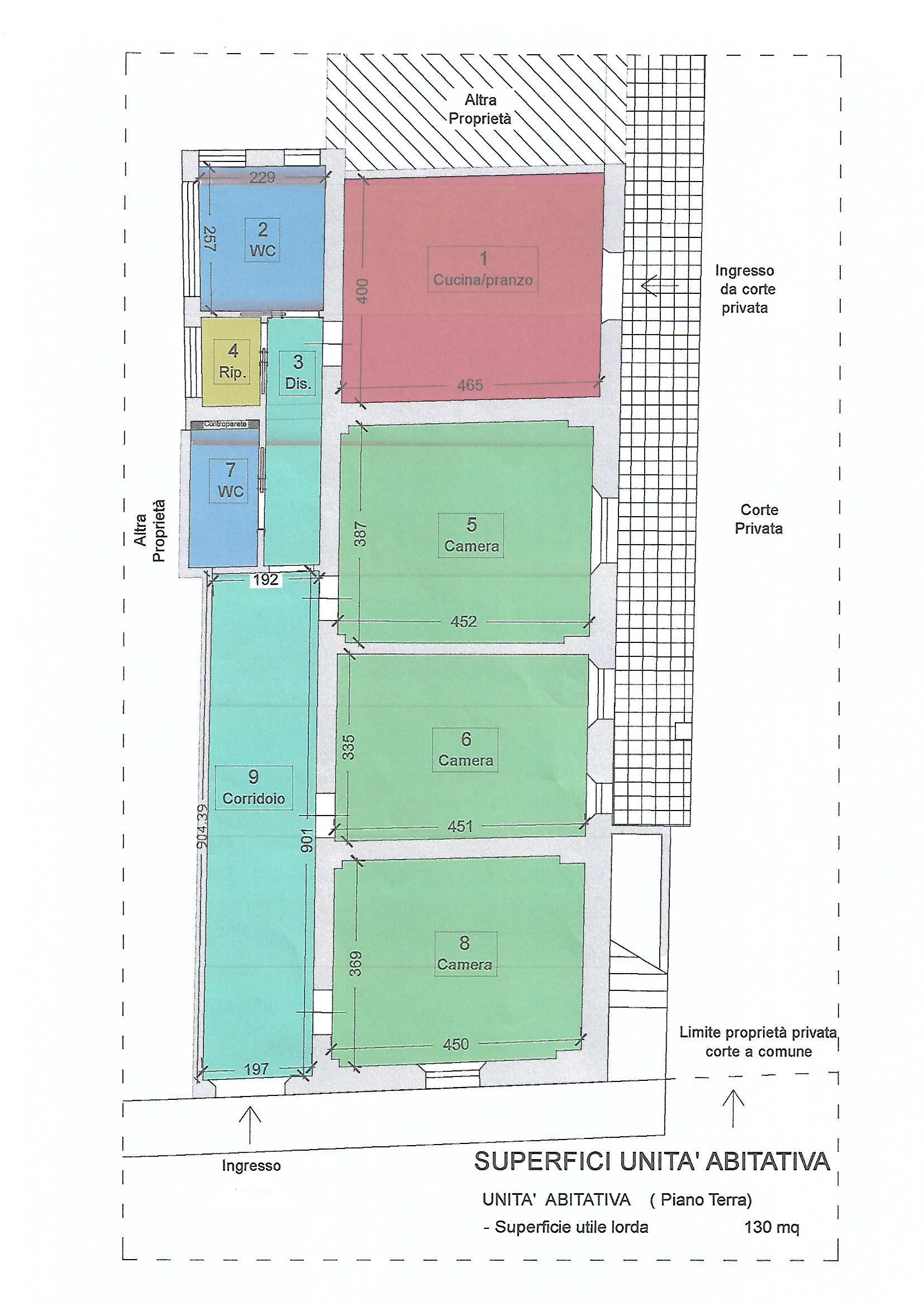 Planimetria 1/1 per rif. V1011