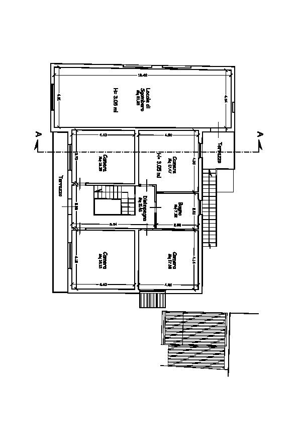 Planimetria 1/2 per rif. V1006