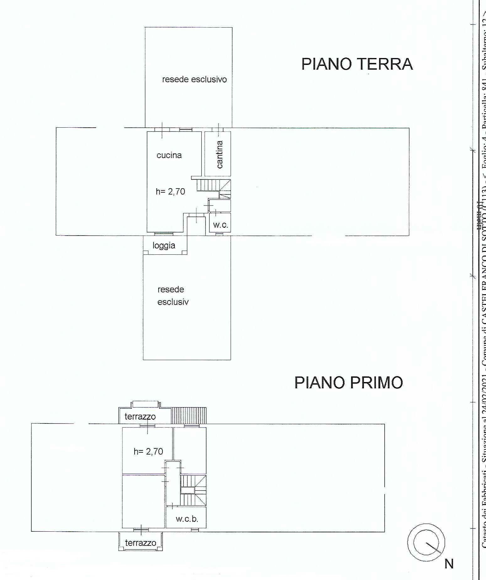 Planimetria 1/1 per rif. V1043