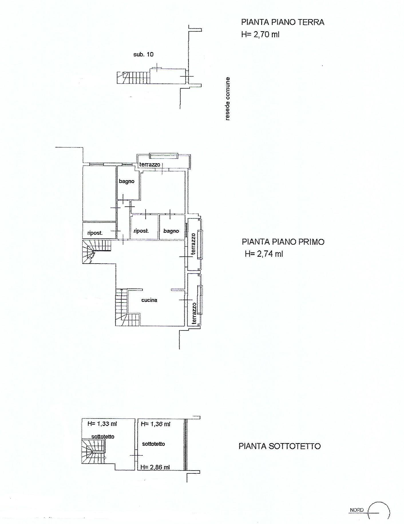 Planimetria 1/2 per rif. V1128