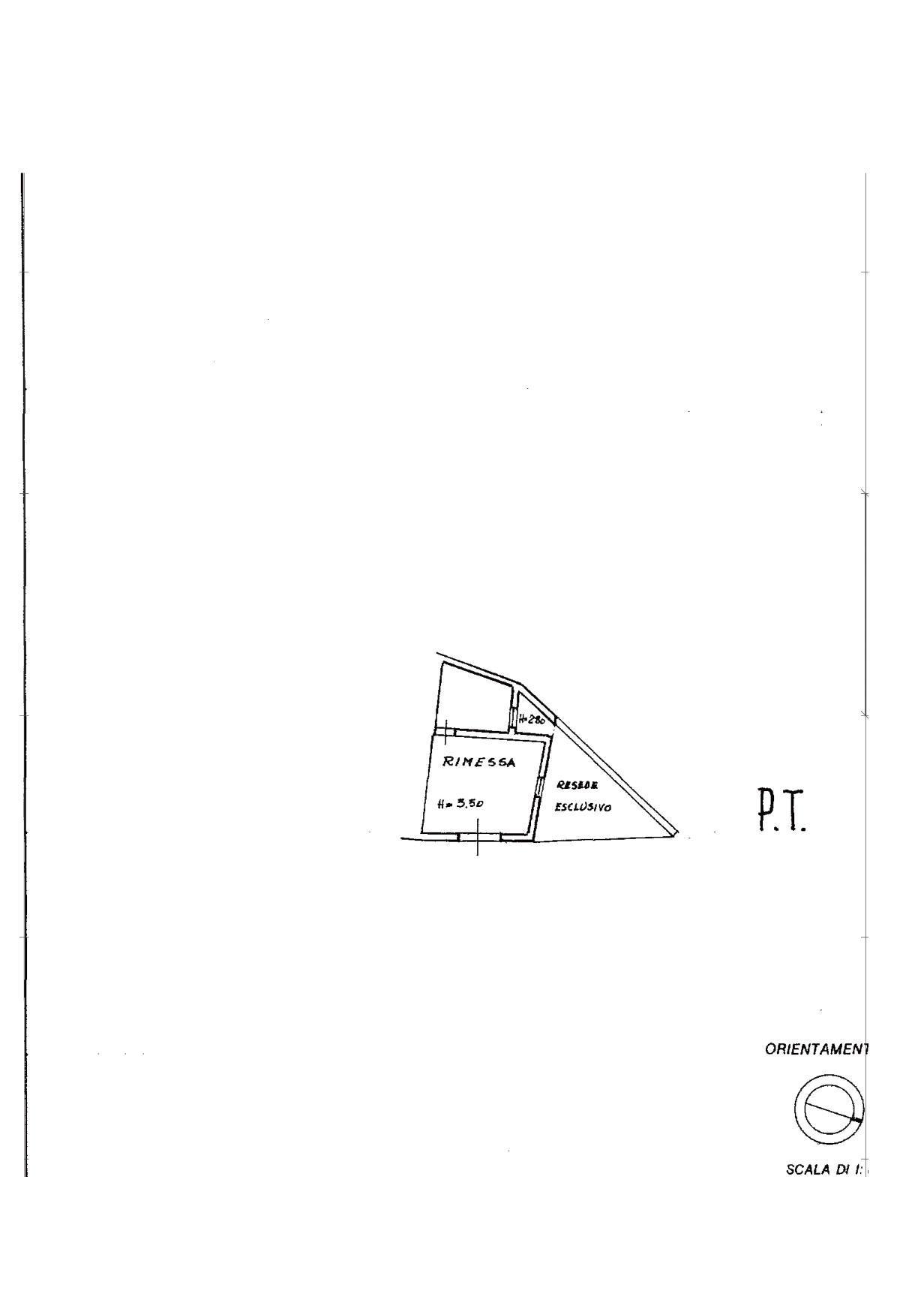 Planimetria 2/2 per rif. V1133