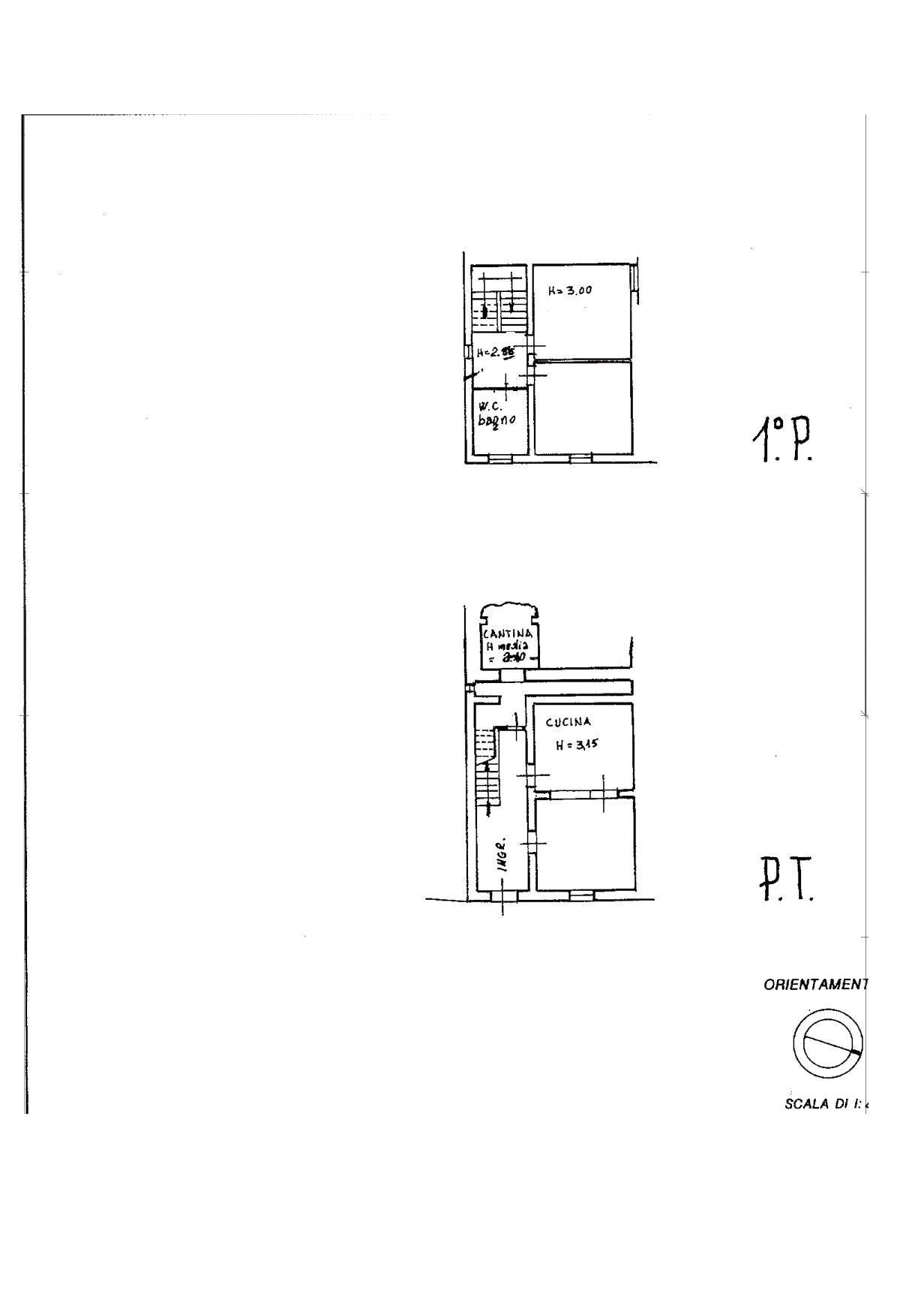 Planimetria 1/2 per rif. V1133
