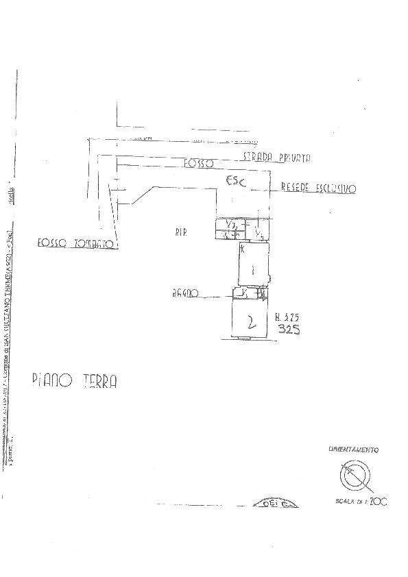 Planimetria 1/1 per rif. II363V