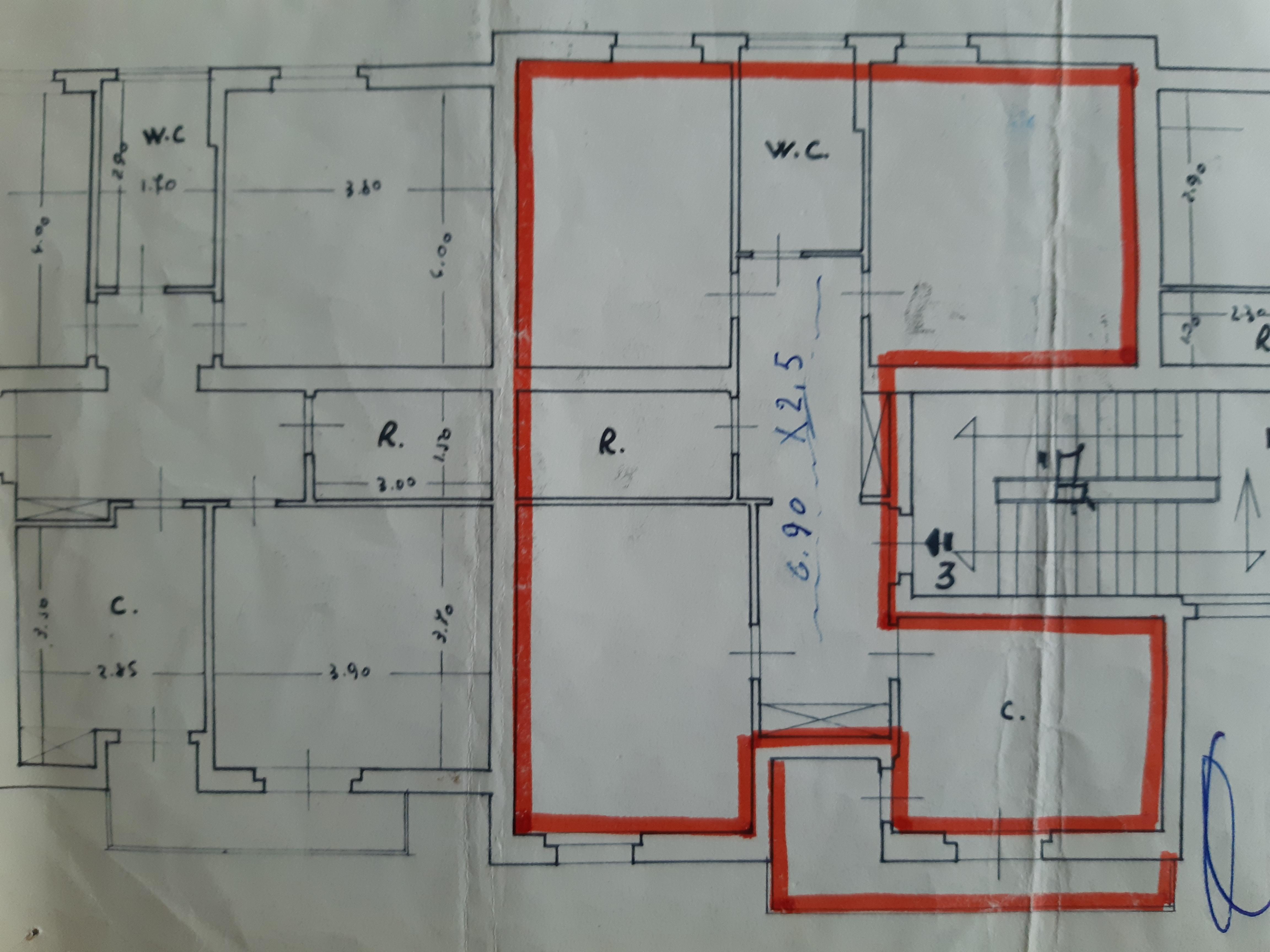 Planimetria 1/1 per rif. II373V