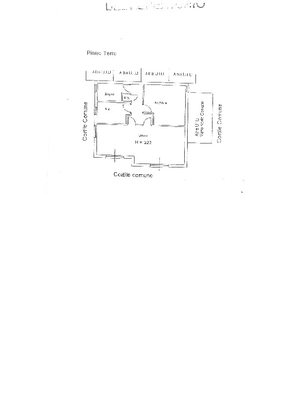Planimetria 1/1 per rif. II30V