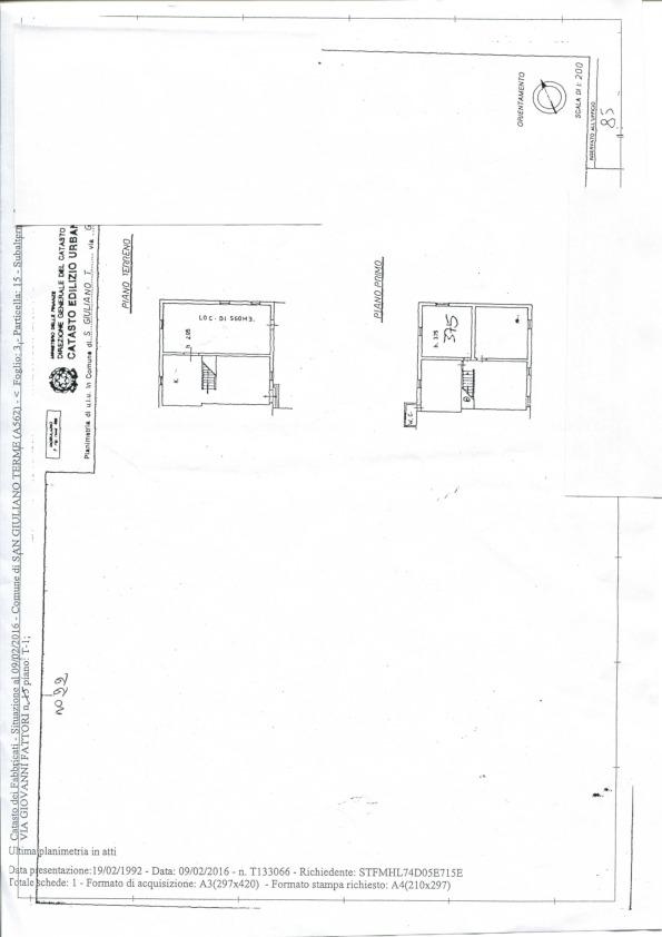 Rustico in vendita, rif. 574 (Planimetria 1/1)