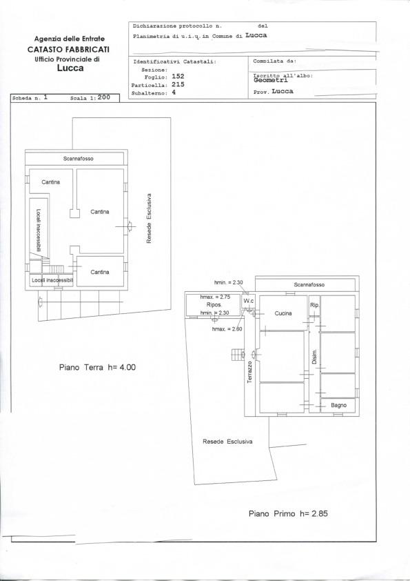 Casa singola in vendita, rif. 624 (Planimetria 1/1)