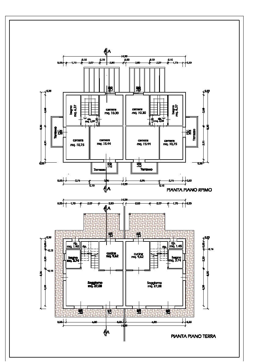 Villetta bifamiliare in vendita, rif. 810 (Planimetria 2/2)