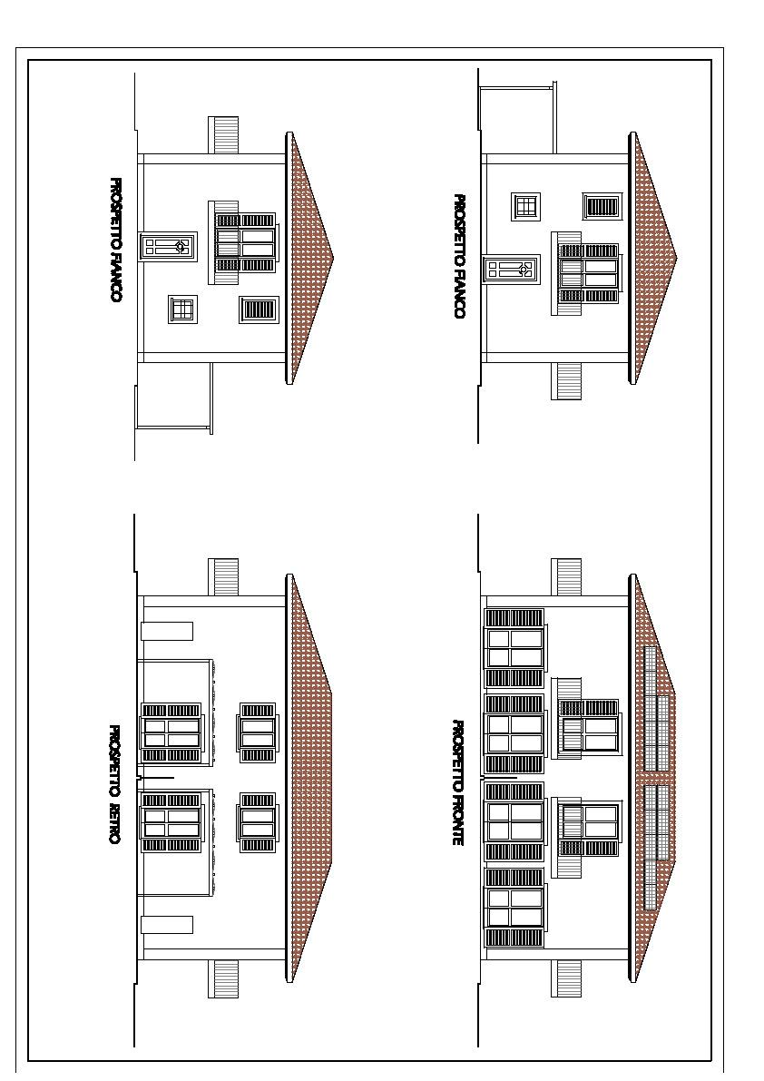 Villetta bifamiliare in vendita, rif. 810 (Planimetria 1/2)