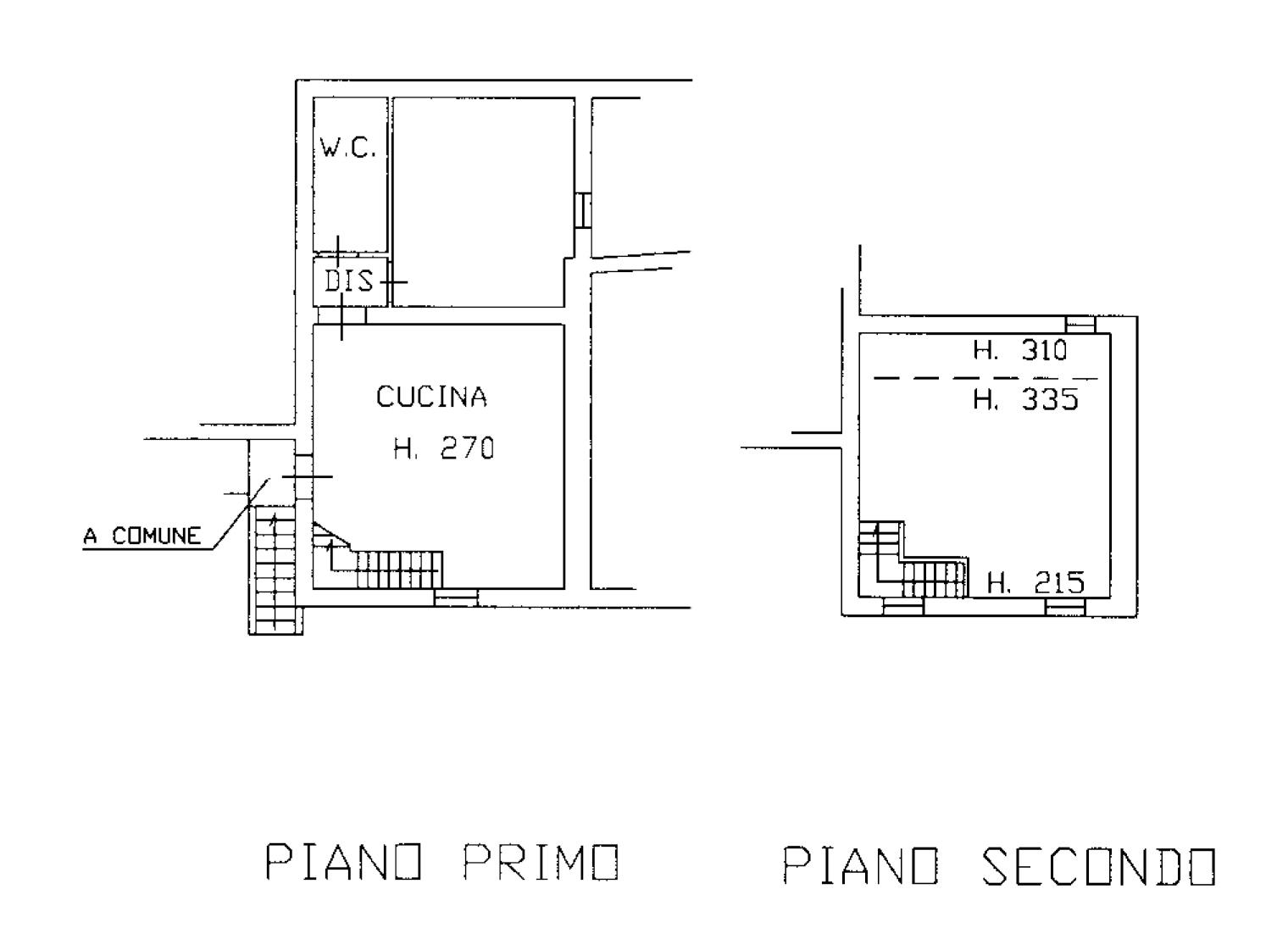 Planimetria 2/2 per rif. CA147