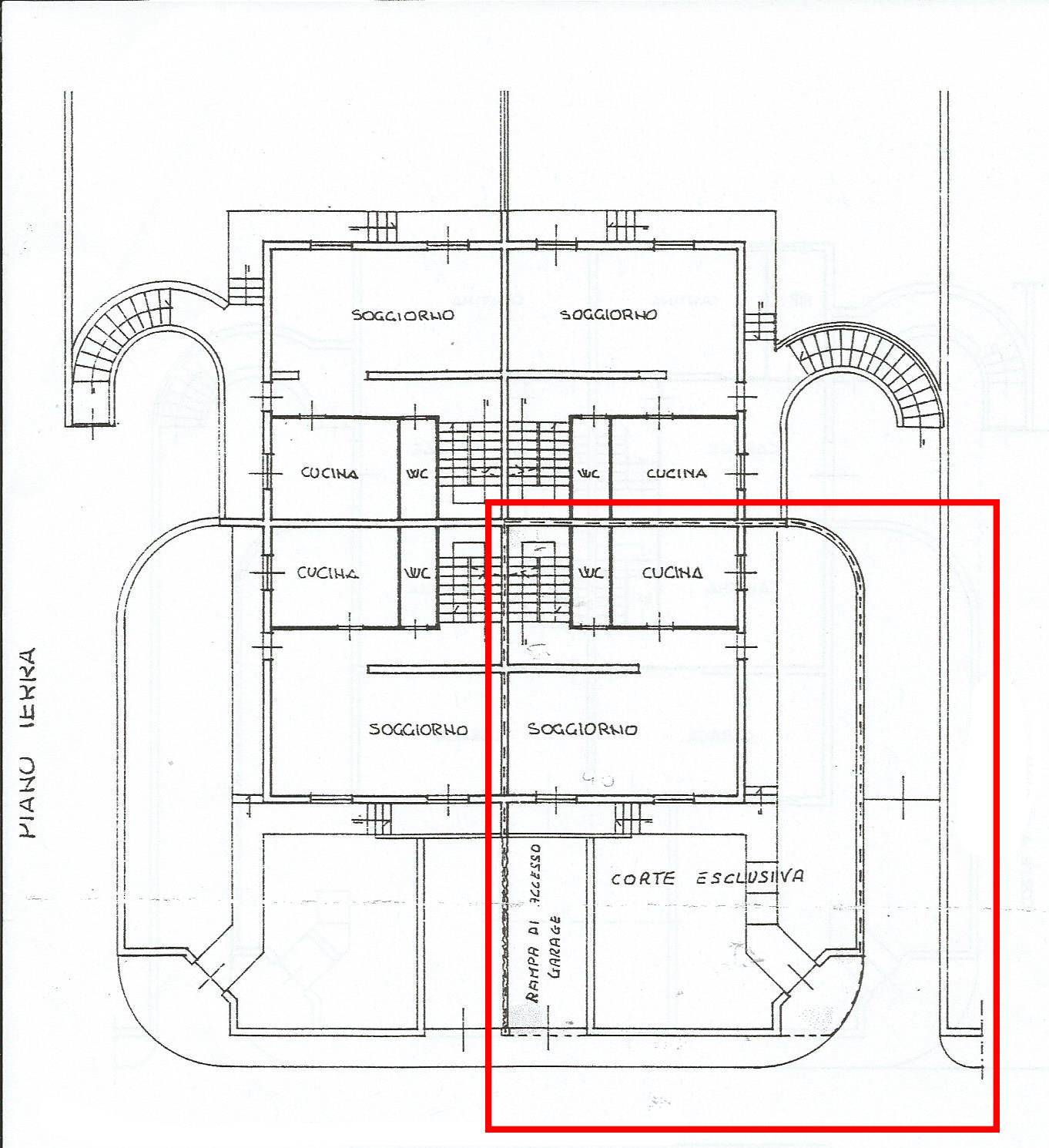 Planimetria 1/3 per rif. CA158B