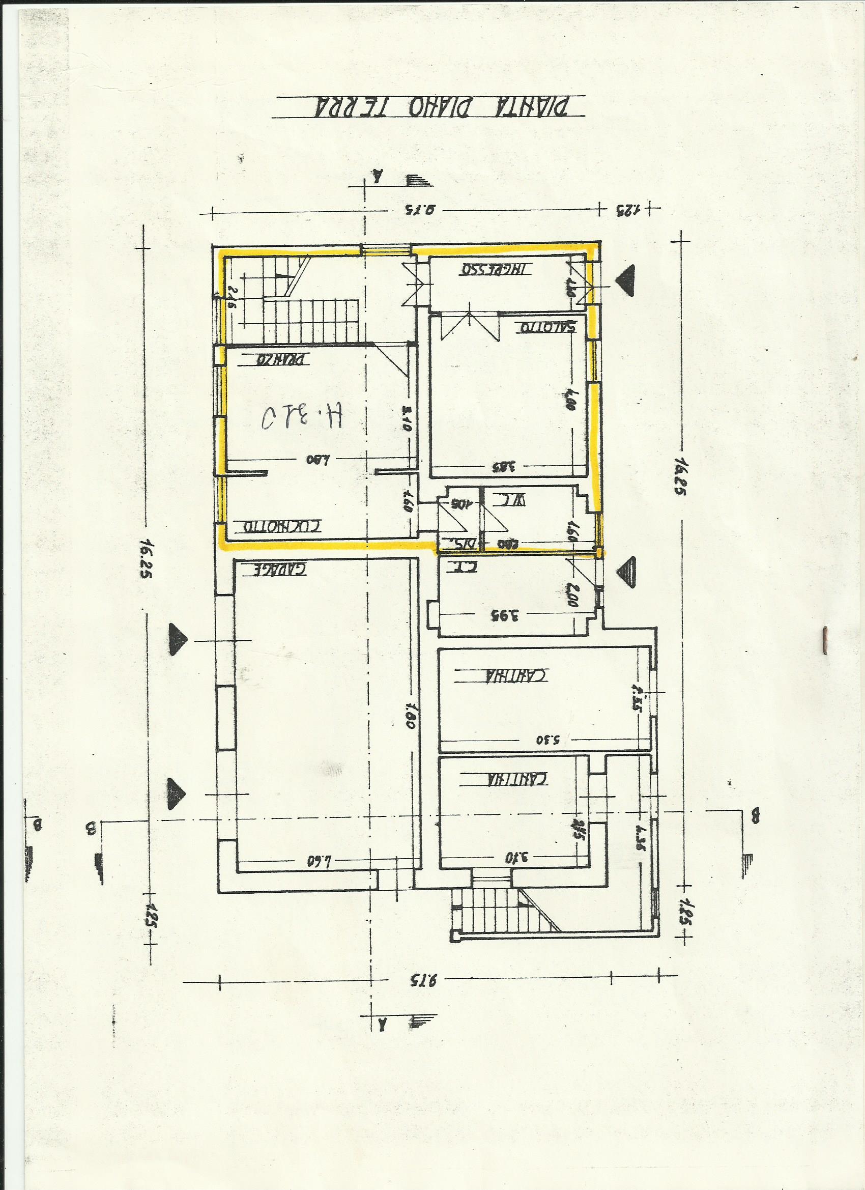 Planimetria 1/2 per rif. A447