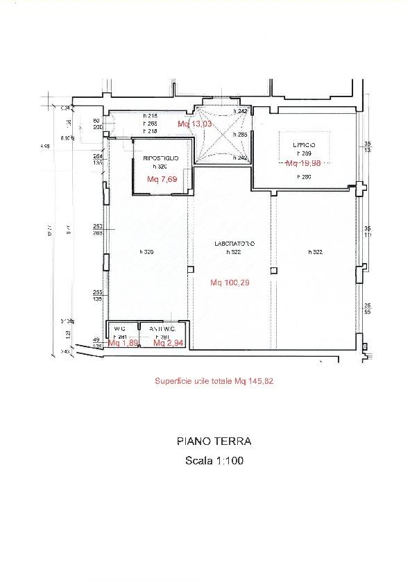 Planimetria 1/1 per rif. A047BIS