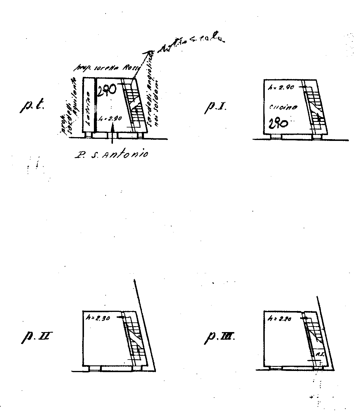 Planimetria 1/3 per rif. FO111B